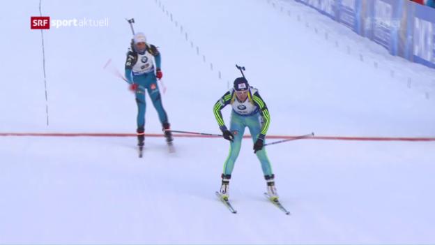 Video «Lena Häcki im Sprint in den Top 15» abspielen