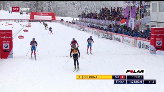 Video «Langlauf: Weltcup in Sotschi» abspielen