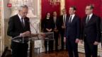 Video «Vereidigung des österreichischen Bundeskanzlers» abspielen
