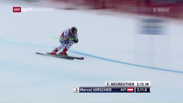 Video «Ski: Pinturault siegt – Murisier starker Siebter» abspielen