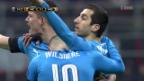 Video «Arsenal gewinnt gegen die AC Milan» abspielen