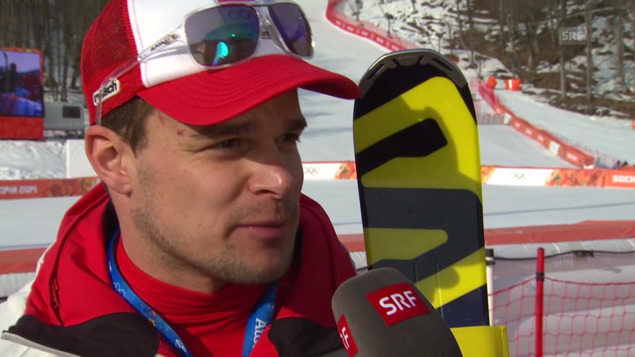 Ski Alpin: Super-G Sotschi, Interview Patrick Küng (sotschi direkt, 16.2.2014)