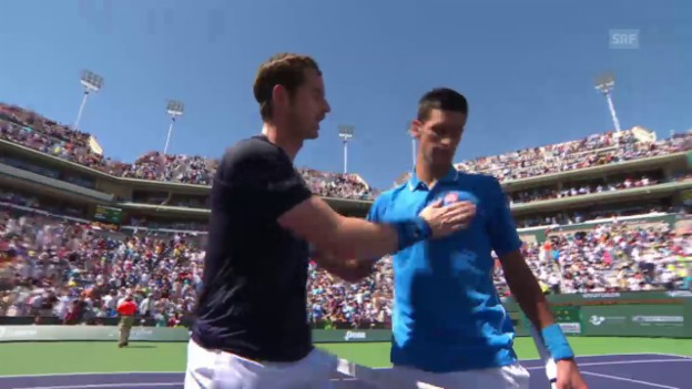 Video «Tennis: ATP 1000 Indian Wells, Spielbericht Djokovic - Murray» abspielen