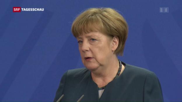 Video «Kanzlerin Merkel zur Strafanzeige» abspielen