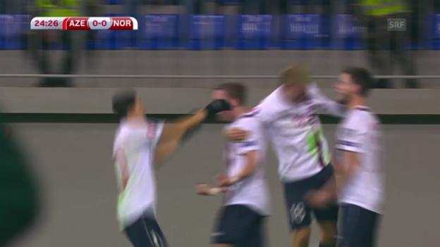 Video «Fussball: EM-Quali, Aserbaidschan-Norwegen» abspielen