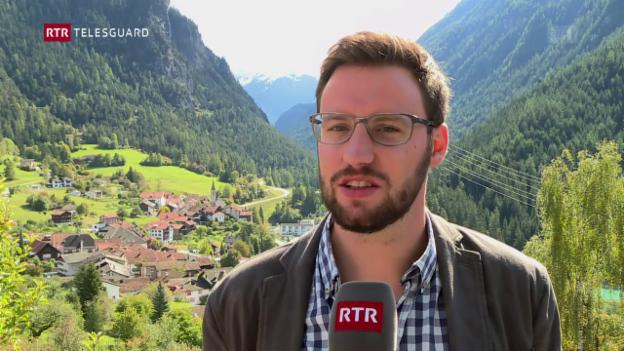 Laschar ir video «Il nov president communal da Bravuogn Luzi Schutz»