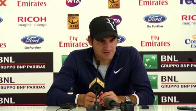 Video «Tennis: Rom 2014, Federer scheitert an Chardy» abspielen