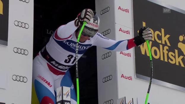 Video «Ski Alpin: Abfahrt Kvitfjell, Fahrt von Zurbriggen («sportlive», 01.03.2014)» abspielen