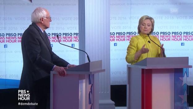 Video «Sie schenken sich nichts: Clinton vs Sanders» abspielen