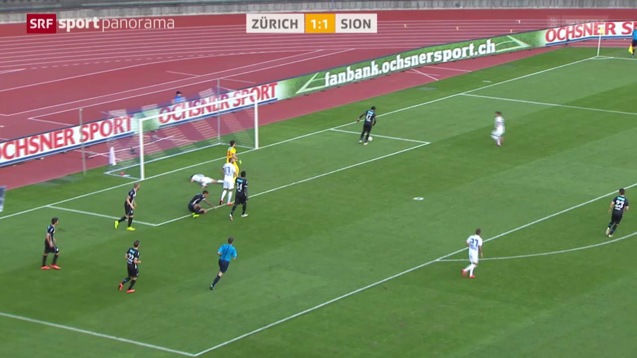 Fussball: Zürich - Sion