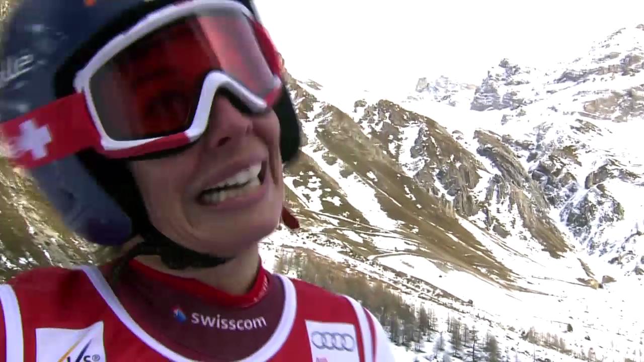 Ski: Riesenslalom Frauen Val d'Isère, 2. Lauf von Dominique Gisin