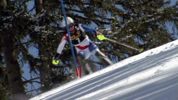 Video «Ski: SL Lenzerheide 2. Lauf Holdener» abspielen