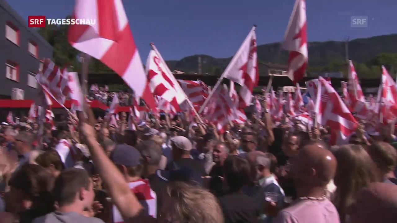 Moutier wechselt zum Kanton Jura