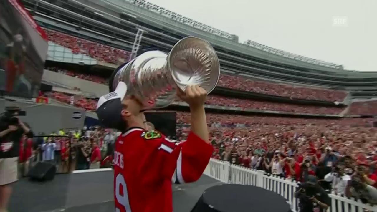 Eishockey: Chicago feiert seine Stanley-Cup-Helden