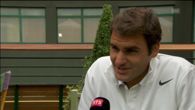 Video «Roger Federer vor dem Wimbledon-Start» abspielen