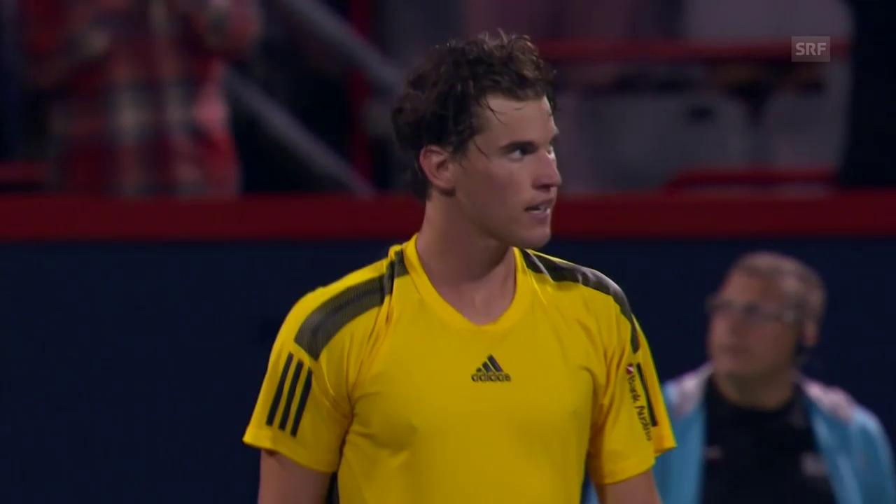 ATP Montreal: Die wichtigsten Ballwechsel bei Thiem - Schwartzman