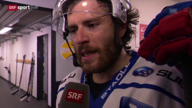 Video «Eishockey: Playoff-Final, Spiel 4, Interview Severin Blindenbacher» abspielen