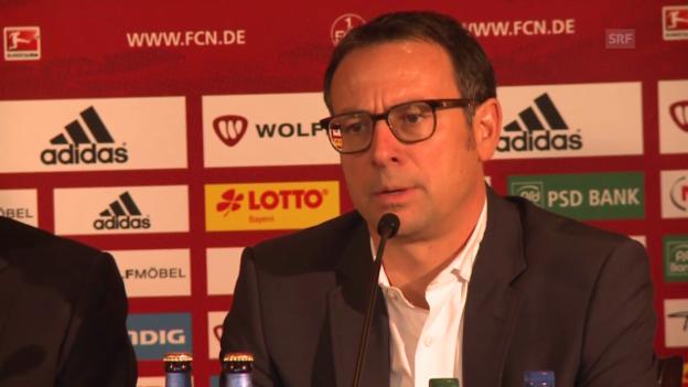 Video «Fussball: Nürnbergs Sportchef Martin Bader über die Verpflichtung von Rene Weiler» abspielen