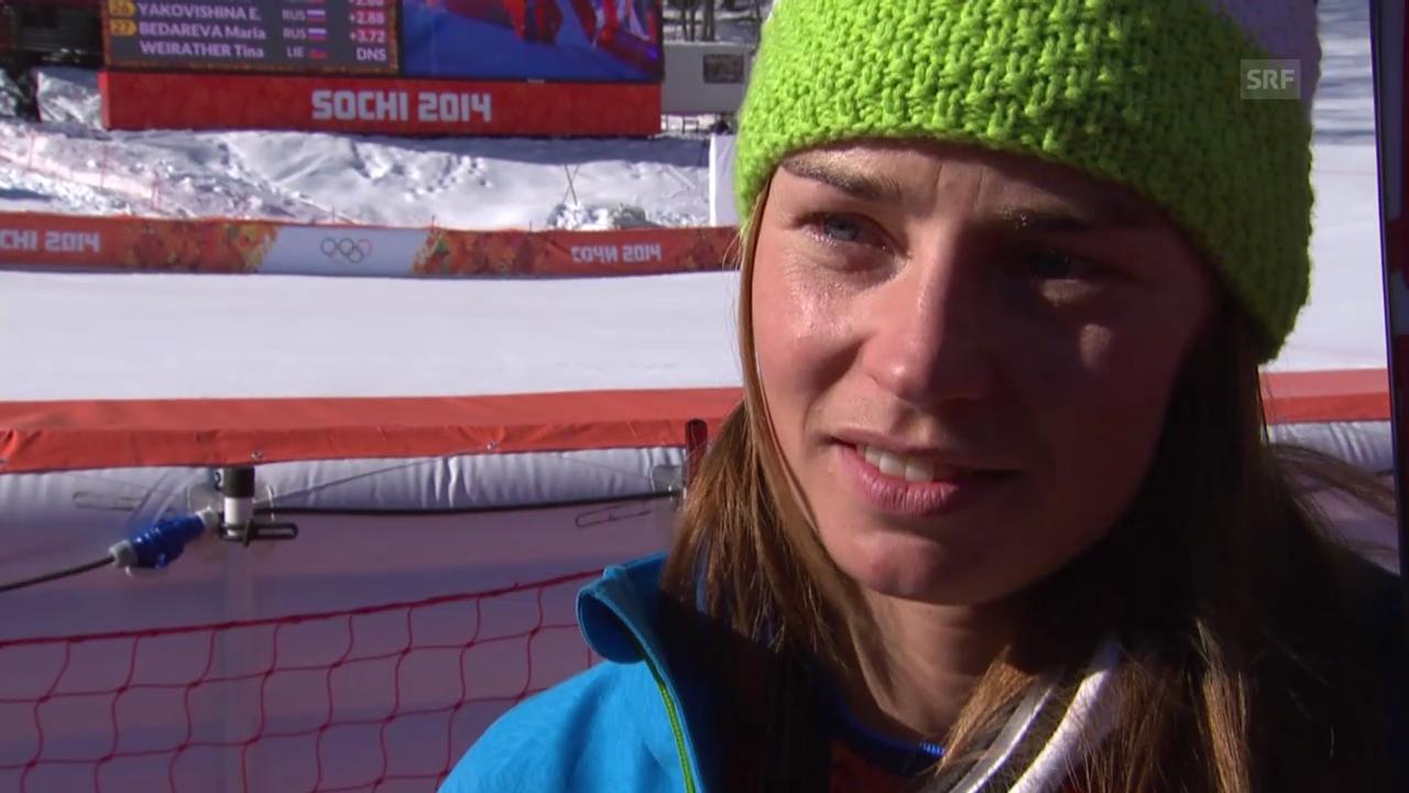Ski: Abfahrt der Frauen, Interview mit Tina Maze (sotschi direkt, 12.02.2014)