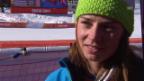 Video «Ski: Abfahrt der Frauen, Interview mit Tina Maze (sotschi direkt, 12.02.2014)» abspielen