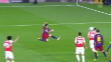 Video «Suarez' Traumtor gegen Arsenal» abspielen