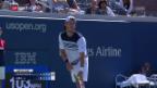 Video «Das Favoritensterben an den US Open geht weiter» abspielen