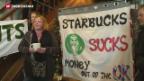 Video «Starbucks zahlt keine Unternehmenssteuern» abspielen