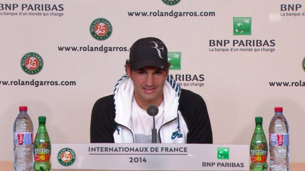 Video «Tennis: French Open, Pressekonferenz Roger Federer» abspielen
