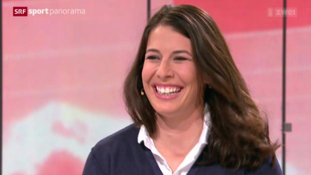 Video «Ski: Gespräch mit Studiogast Dominique Gisin, Teil II» abspielen