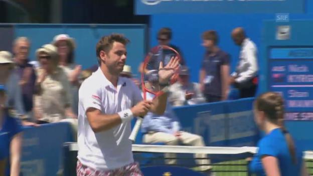 Video «Tennis: ATP Queen's, Highlights bei Wawrinka - Kyrgios» abspielen