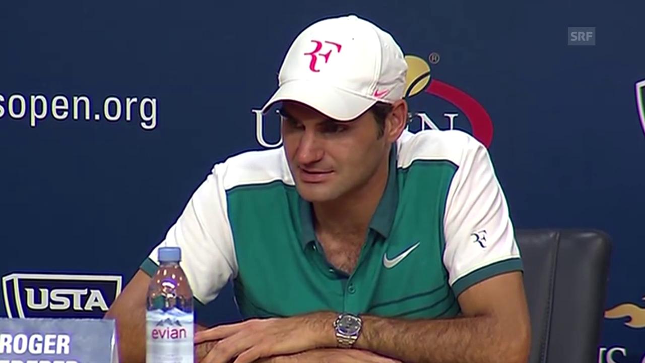 Tennis: US Open, Roger Federer an der Medienkonferenz (deutsch)
