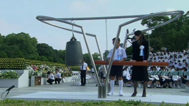 Video «Gedenkzeremonie in Hiroshima (unkommentiert)» abspielen