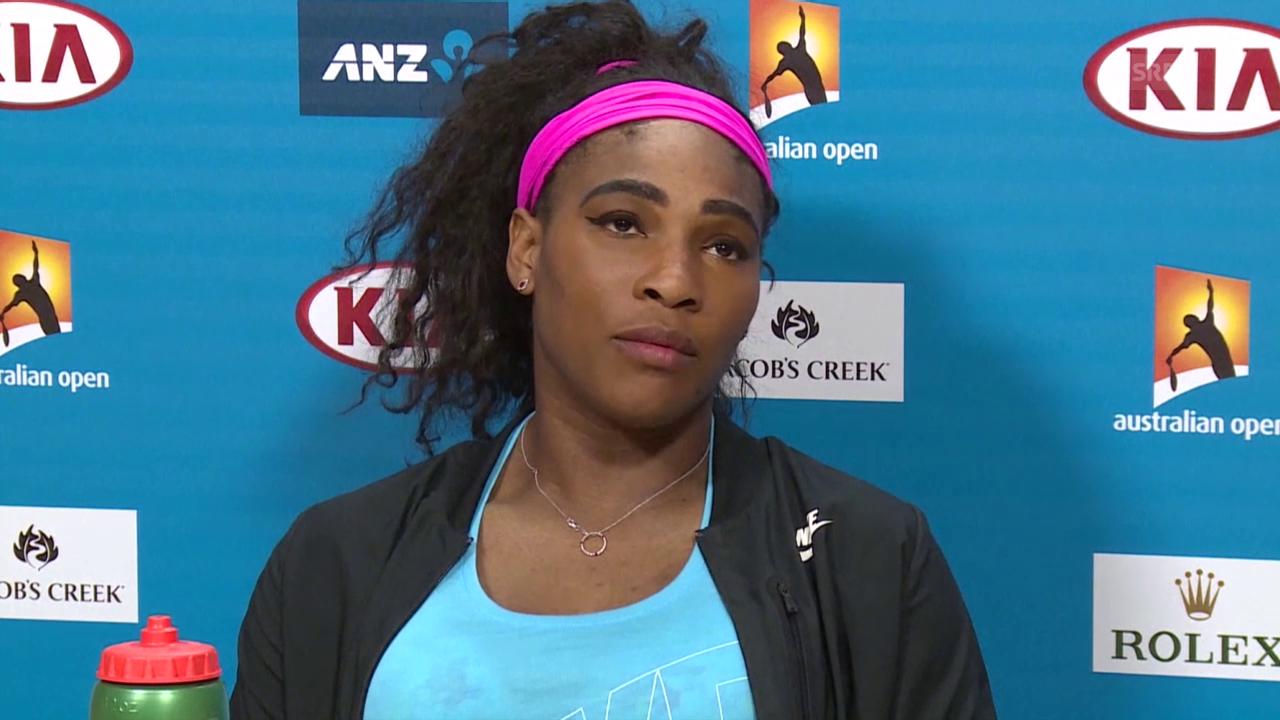 Tennis: Williams zum Duell gegen Scharapowa (Quelle: SNTV)