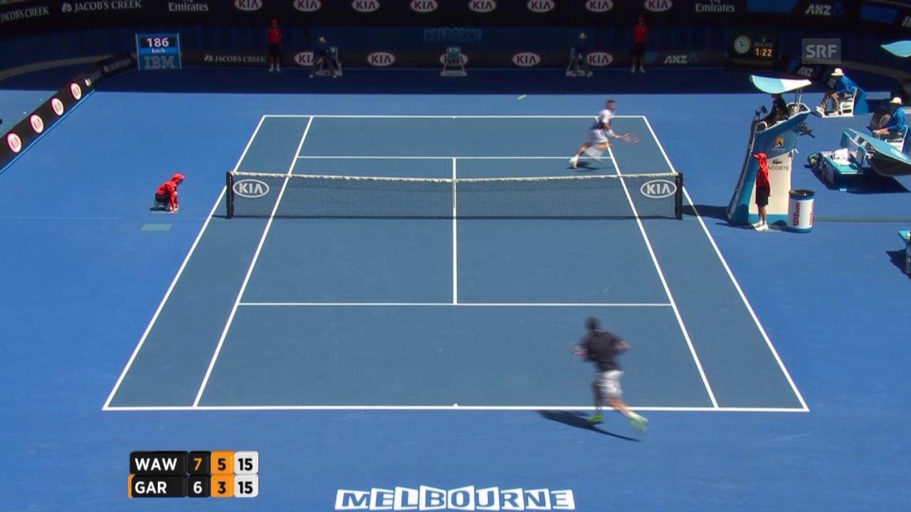 Tennis: Australian Open, Wawrinka-Garcia-Lopez, Satz 2