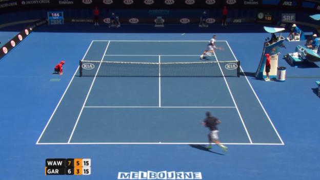 Video «Tennis: Australian Open, Wawrinka-Garcia-Lopez, Satz 2» abspielen