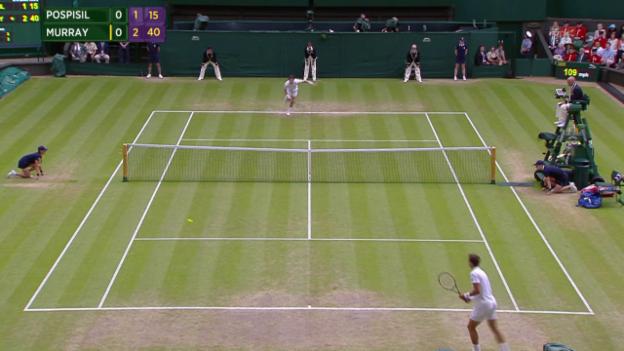 Video «Tennis: Wimbledon, missglückter Service Murray» abspielen