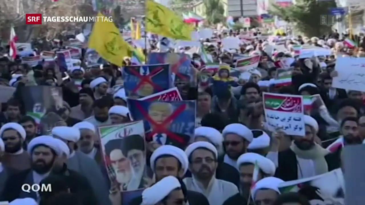 Demonstrationen auf iranischen Strassen