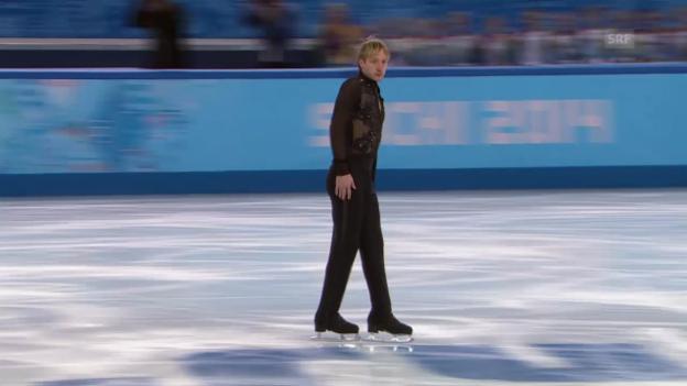 Video «Eiskunstlaufen: Kür von Pluschenko, «sotschi direkt» 09.02.14)» abspielen