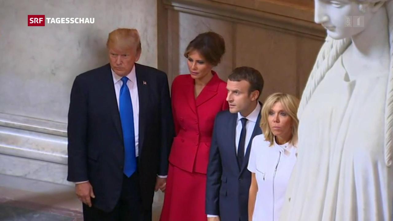 US-Präsident Trump in Paris eingetroffen