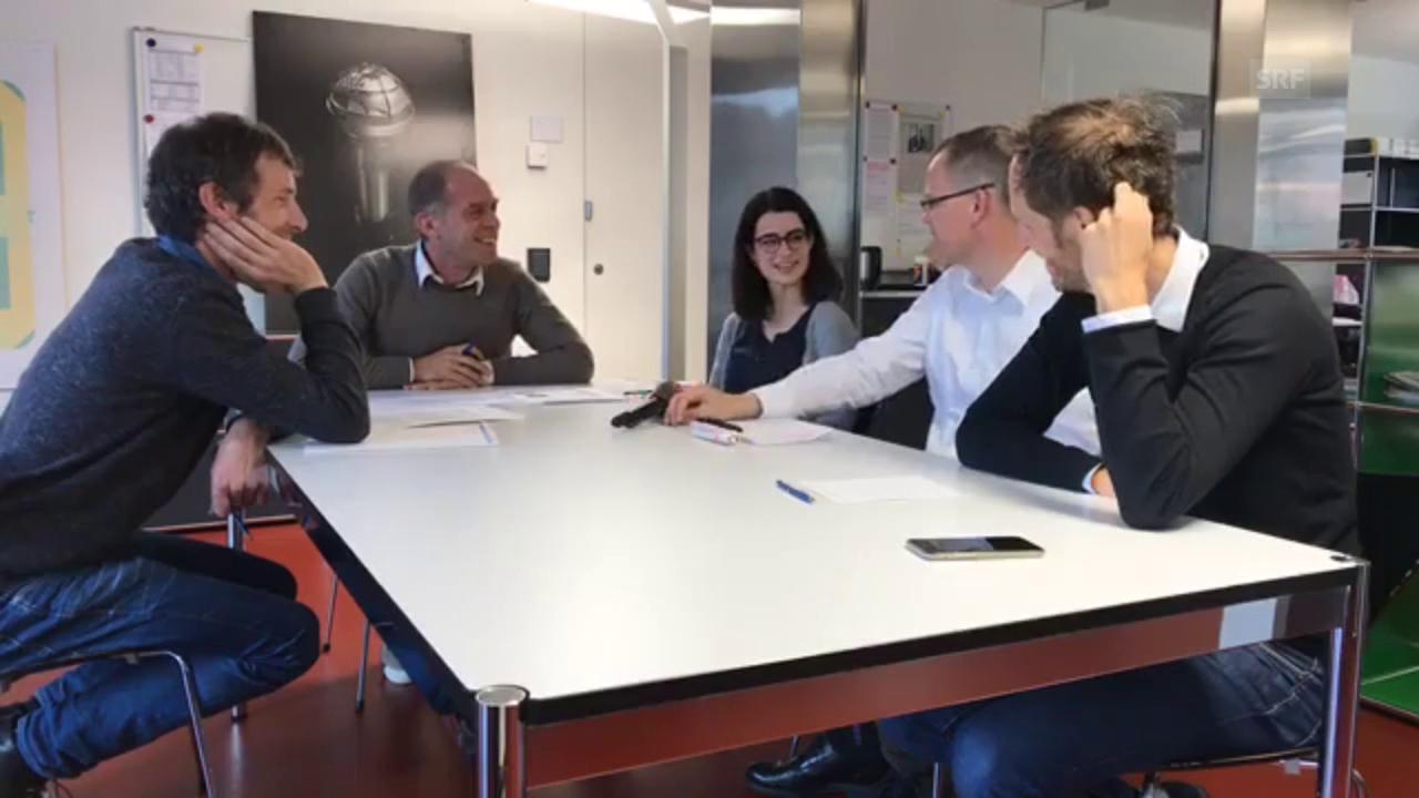 Redaktionssitzung «Echo der Zeit» vom 12.10.2017 - Facebook Live Session «Hallo SRF!»