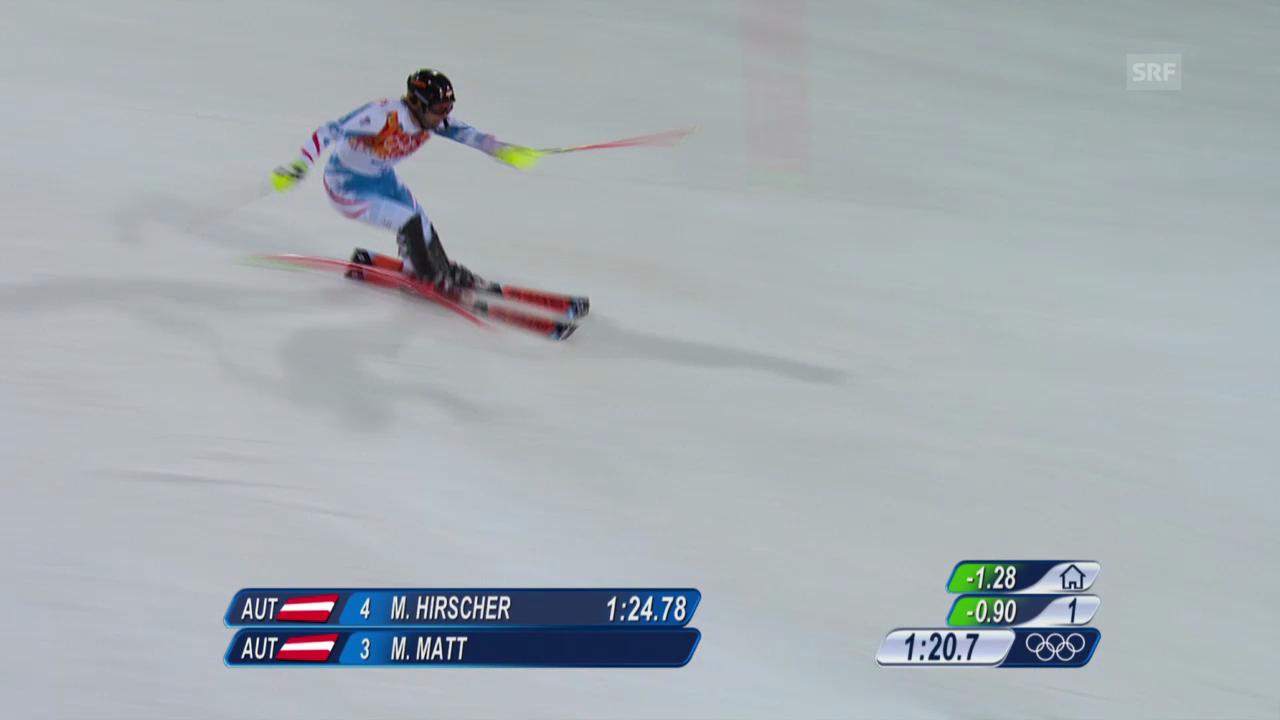 Ski: 2. Lauf Mario Matt (sotschi direkt, 22.02.2014)