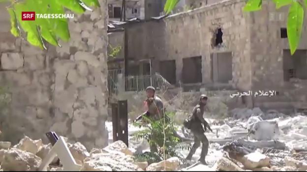 Video «Der Kampf um Aleppo geht mit aller Härte weiter» abspielen