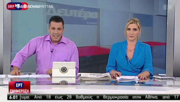 Video «Mit dem Sender ERT löst Tsipras ein Wahlversprechen ein» abspielen