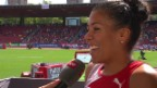 Video «Leichtathletik: EM Zürich, Interview mit Mujinga Kambundji» abspielen