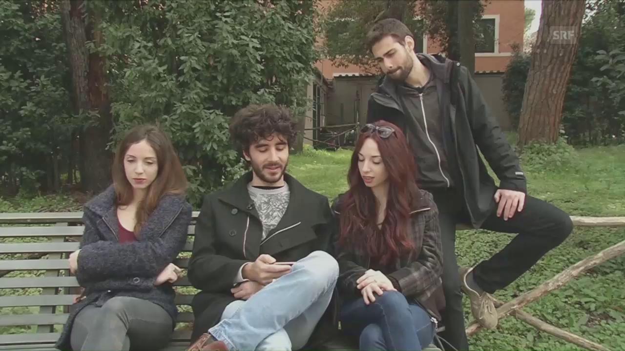 Junge Italiener über die EU