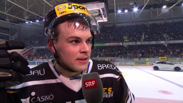 Video «Interview Gregory Hofmann nach dem Sieg über Bern» abspielen