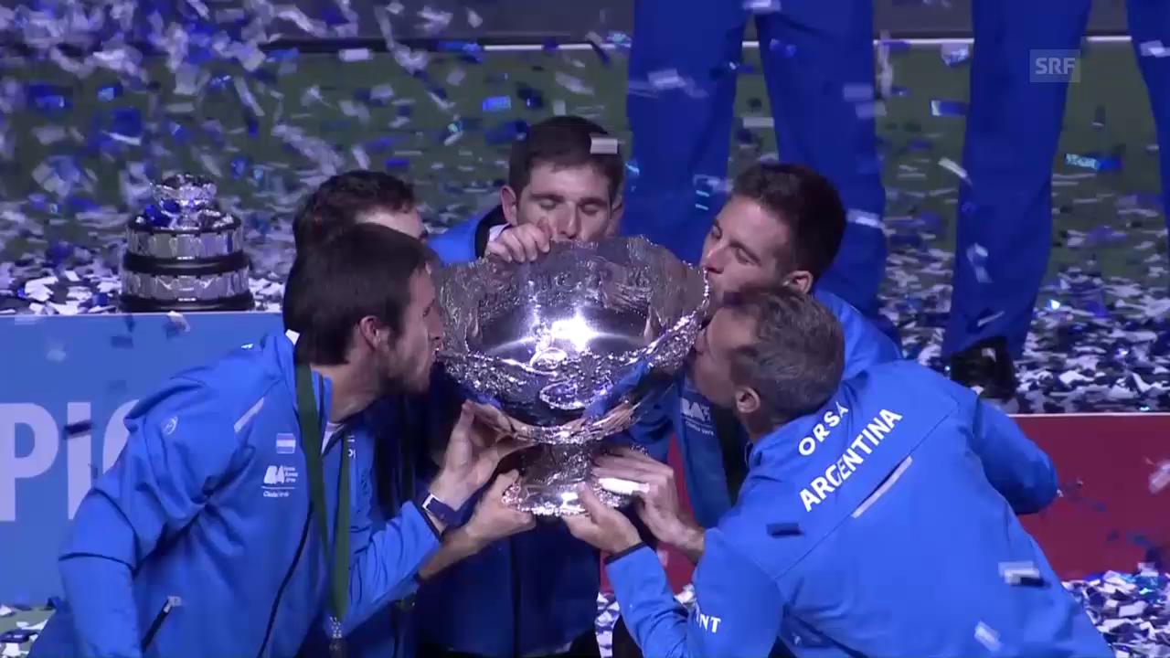 Argentinische Davis-Cup-Sieger im Freudentaumel
