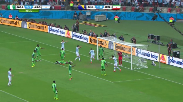 Video «FIFA WM 2014: Rojo erzielt das 3:2 gegen Nigeria» abspielen