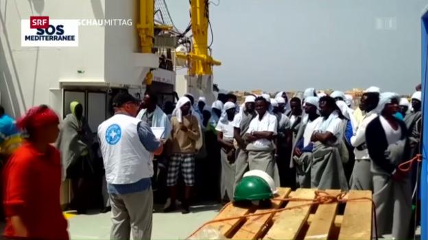 Video «EU will mit Libyen zusammenarbeiten» abspielen