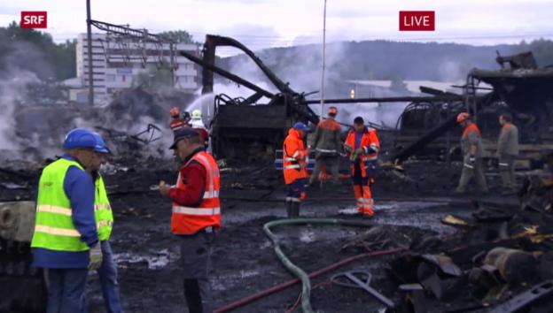 Video «Grossbrand in Schlieren» abspielen